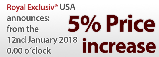 Royal Exclusiv USA increase 5% in 2018